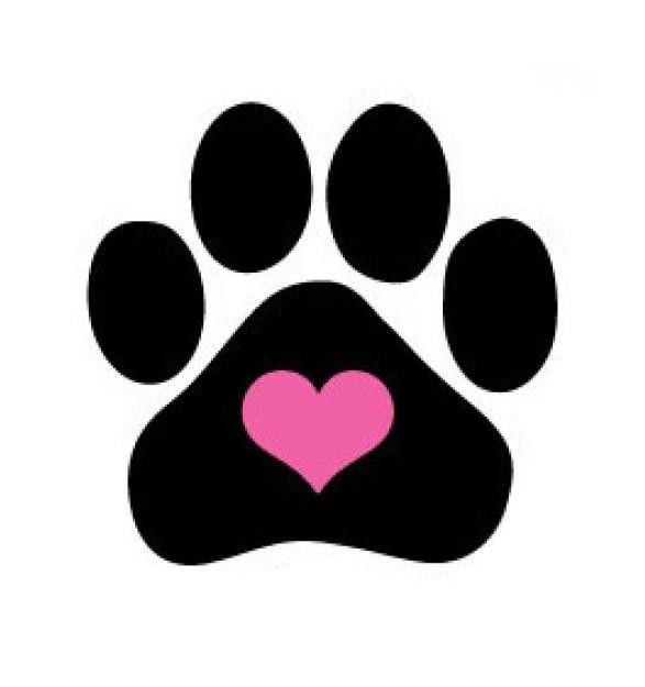 Paw clip art heart shaped. Dog print images ideas