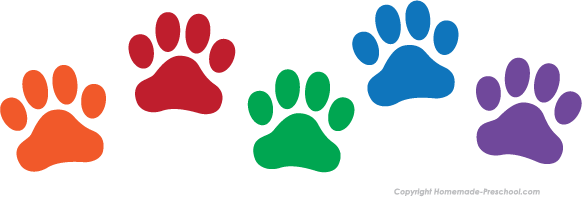Paw clip art paw print. Free prints clipart click