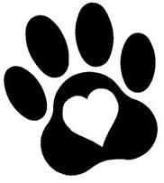 Paw clip art paw print. Dog royalty free clipart