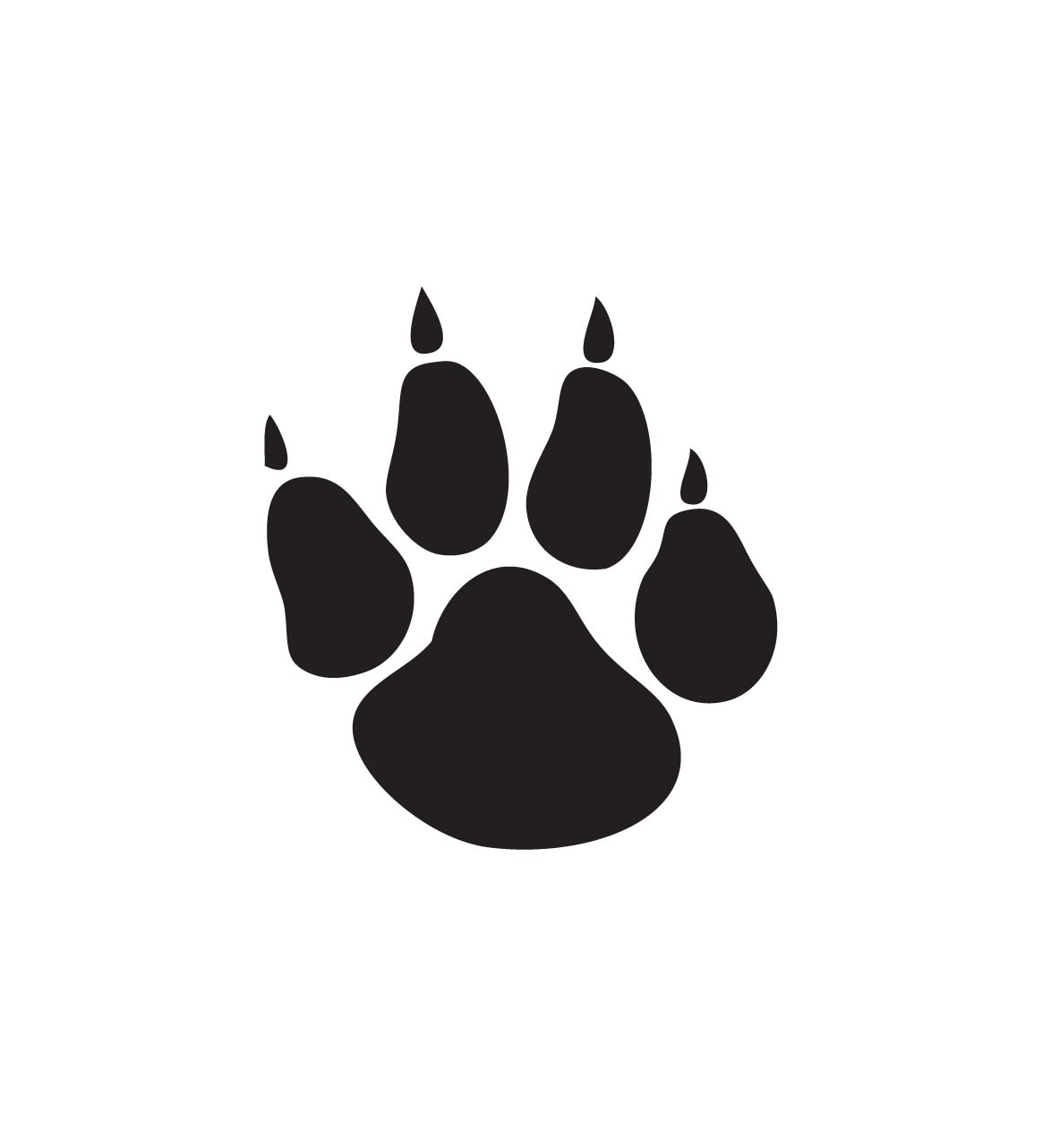 Paw clip art paw print. Dog silhouette at getdrawings