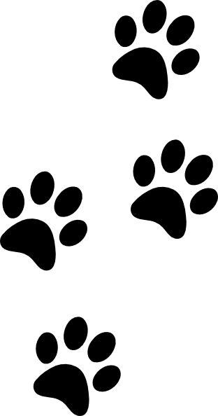 Paw clip art puppy. Dog print ideas on
