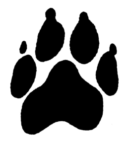 Paw clip art puppy. Free clipart prints images