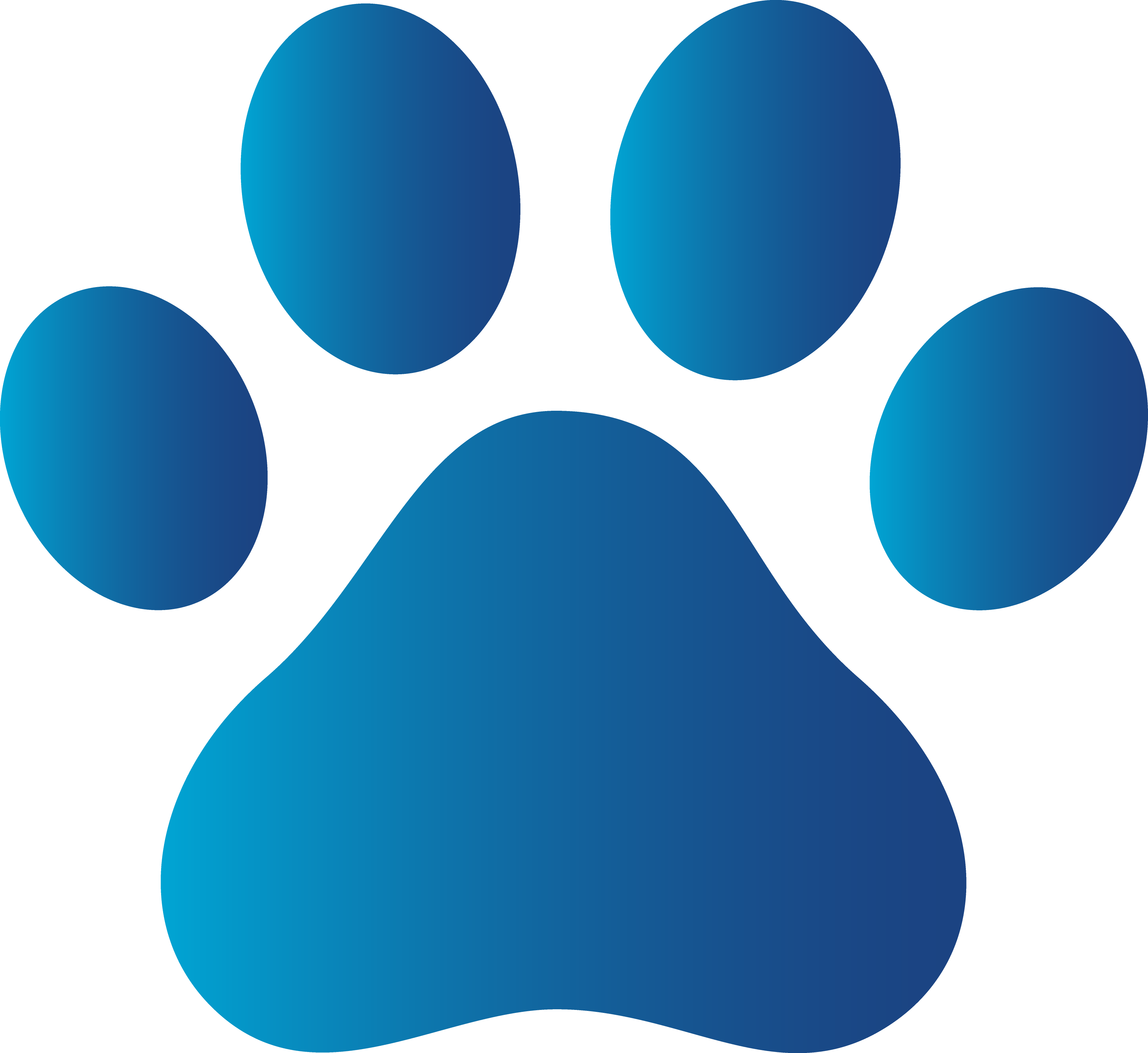 Free blue dog print. Paw clip art puppy clip freeuse library
