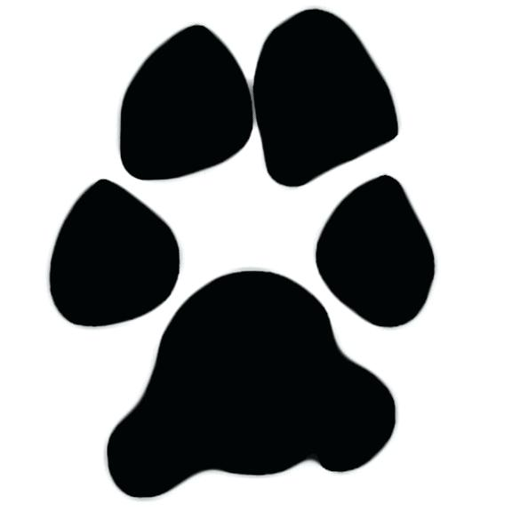 Pet related arts prints. Paw clip art puppy banner free stock