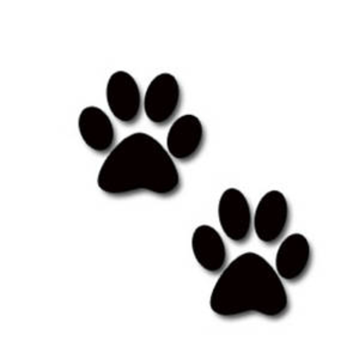 Paw clip art puppy. Dog print free download