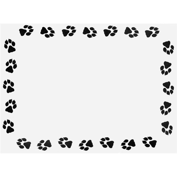 Border clipart . Paw clip art puppy clip art freeuse library