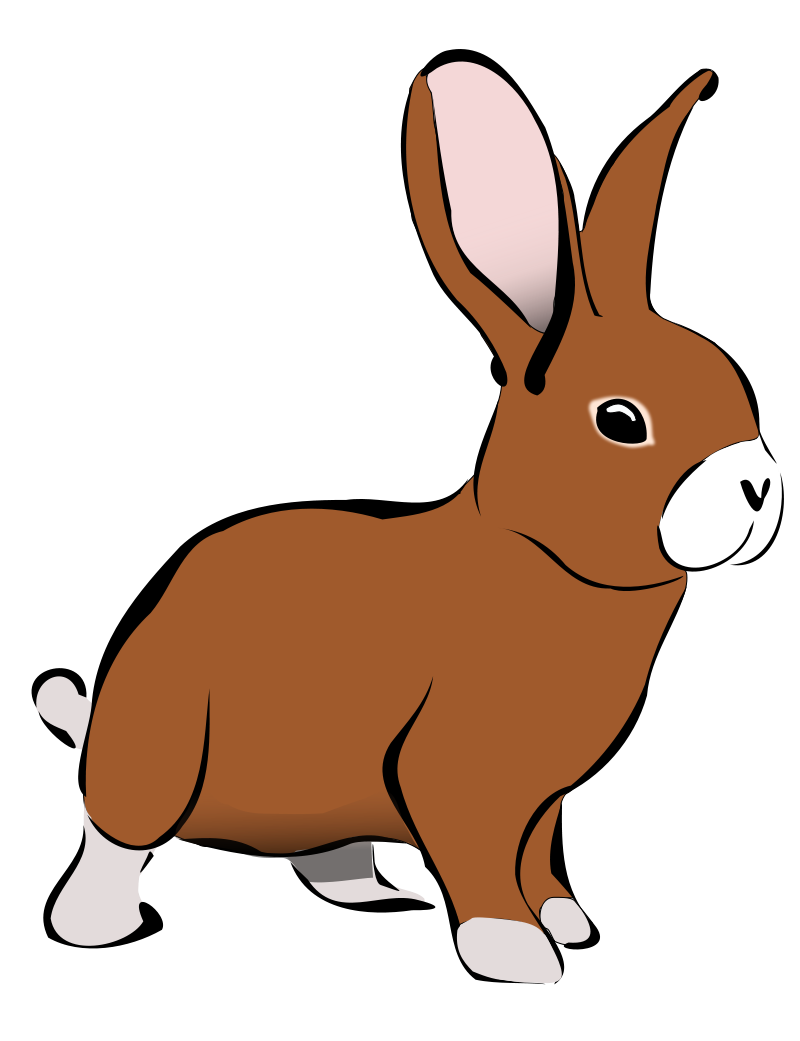 Paw clip art rabbit. Clipart free download on