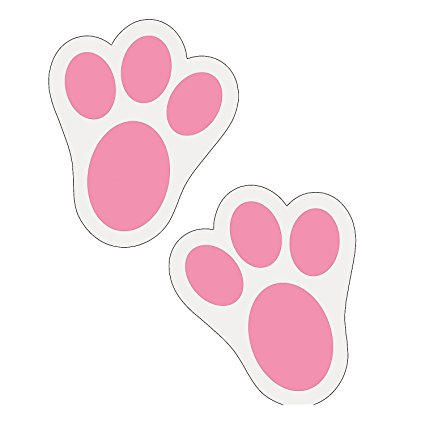 Paw clip art rabbit. Amazon com fun express