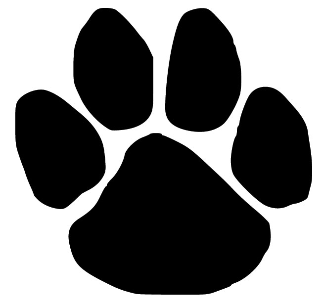 Paw clip art silhouette. Dog print at getdrawings