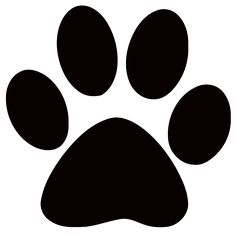 Paw clip art silhouette. Dog print download free