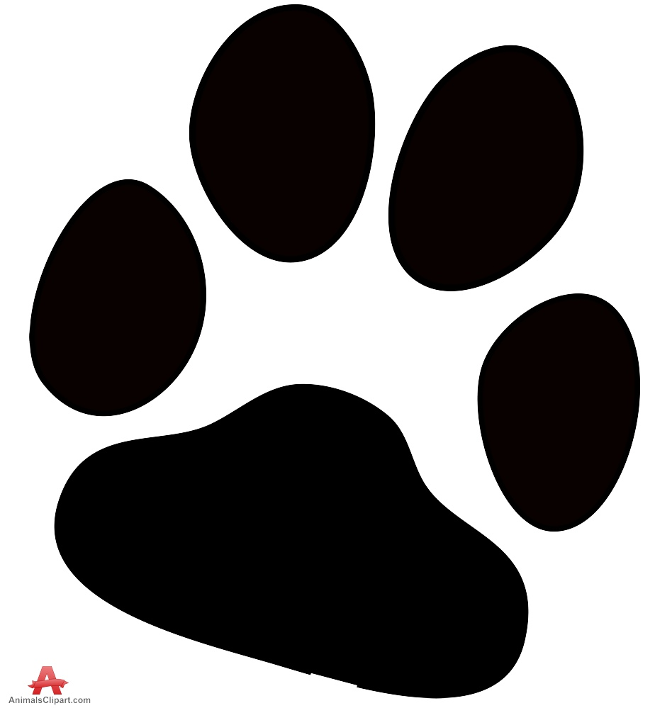 Paw clip art silhouette. Cat at getdrawings com