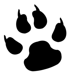 Free clipart image dog. Paw clip art silhouette banner free stock