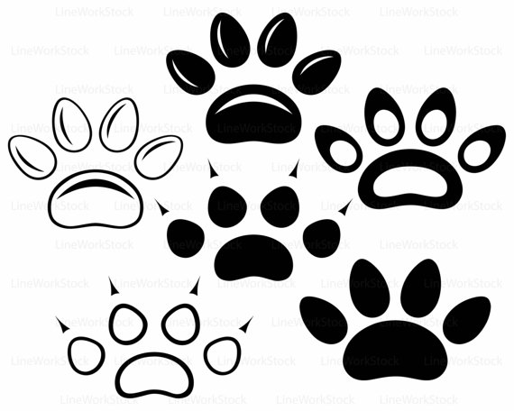 Prints svg clipart bear. Paw clip art silhouette vector library library