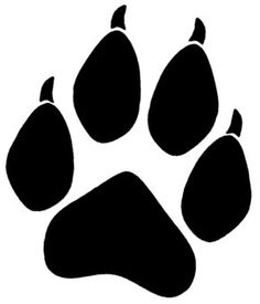 Paw clip art stencil. Pin by muse printables
