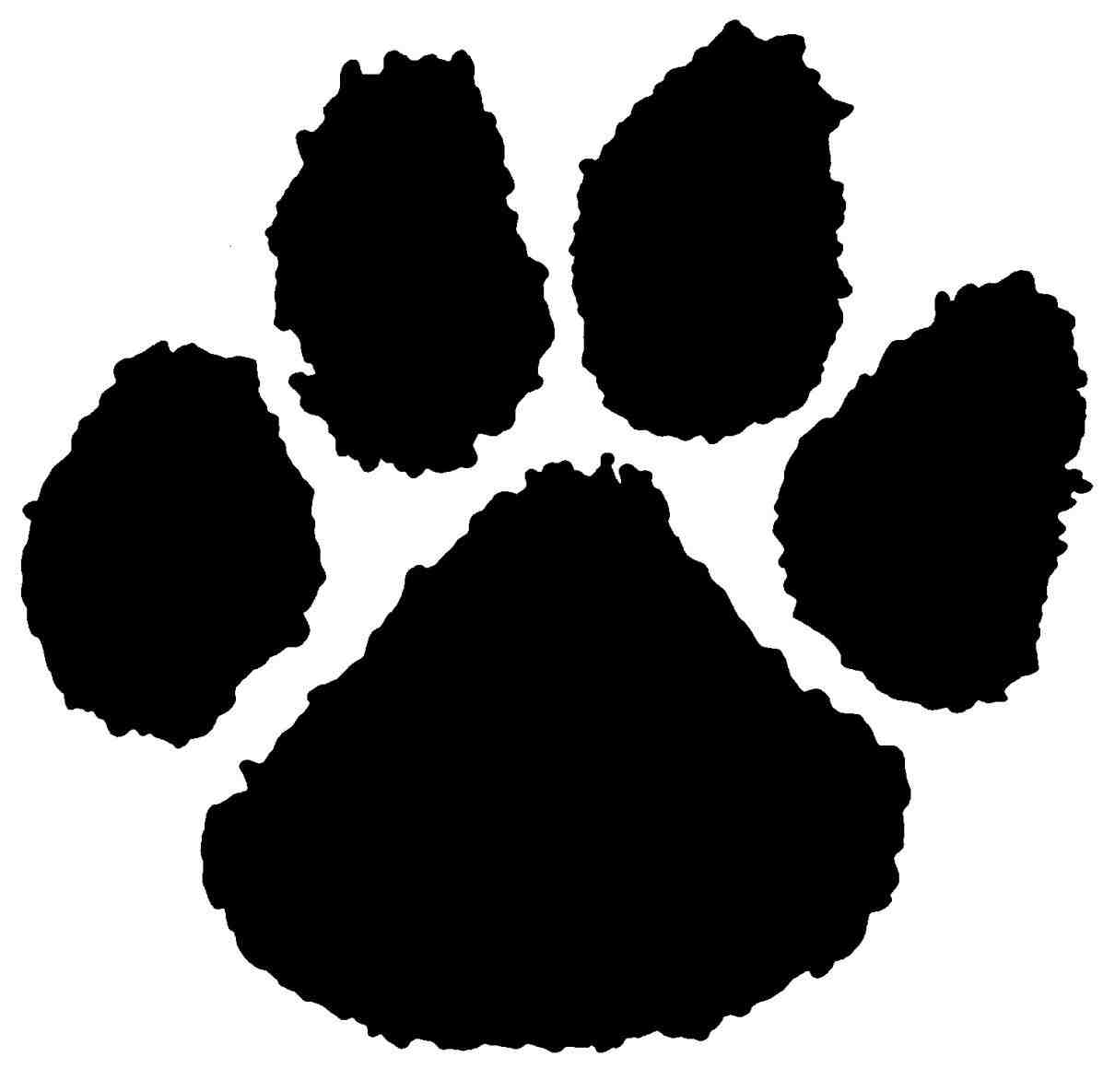 Paw clip art stencil. Download on dog image