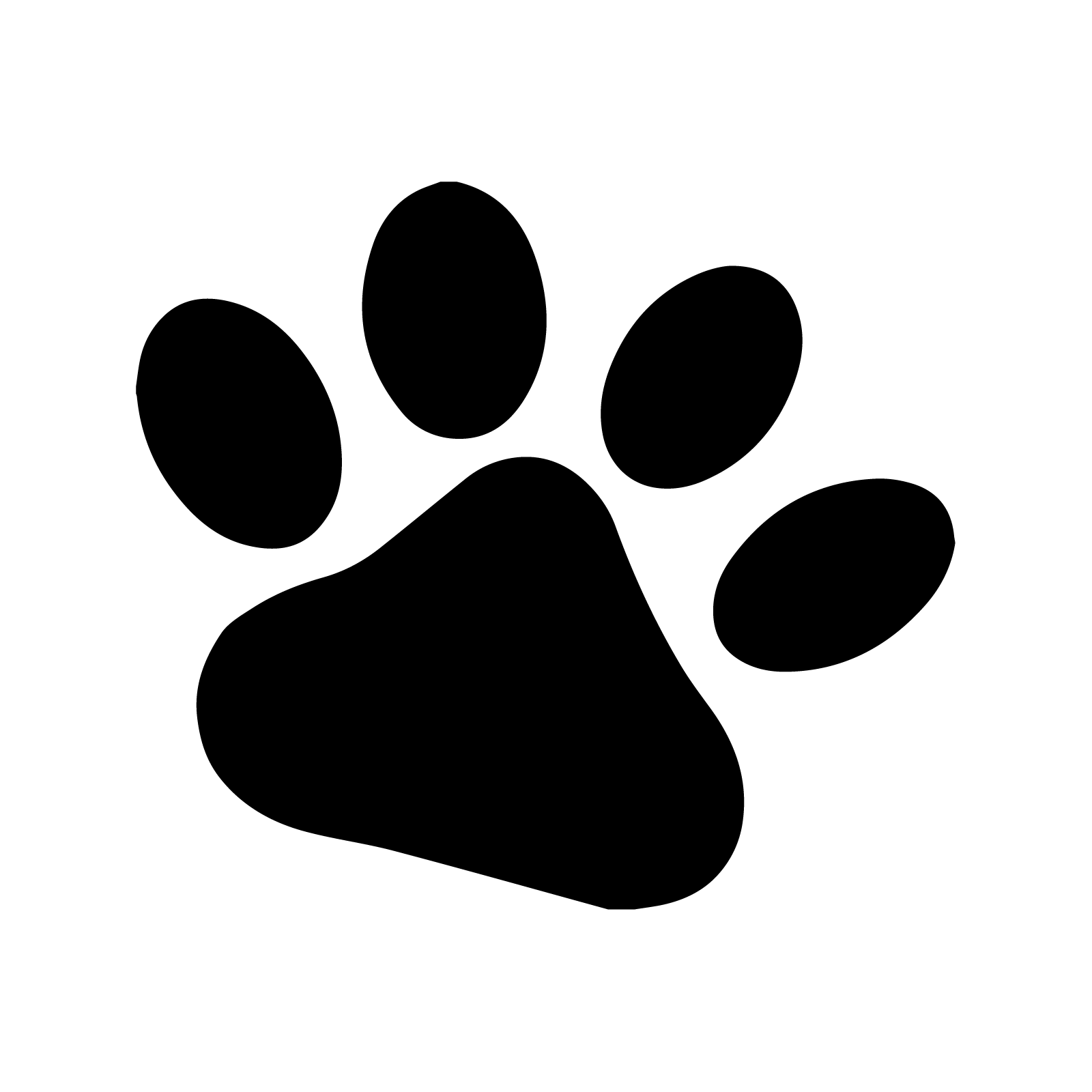 Paw clip art stencil. Dog paws stenciling and