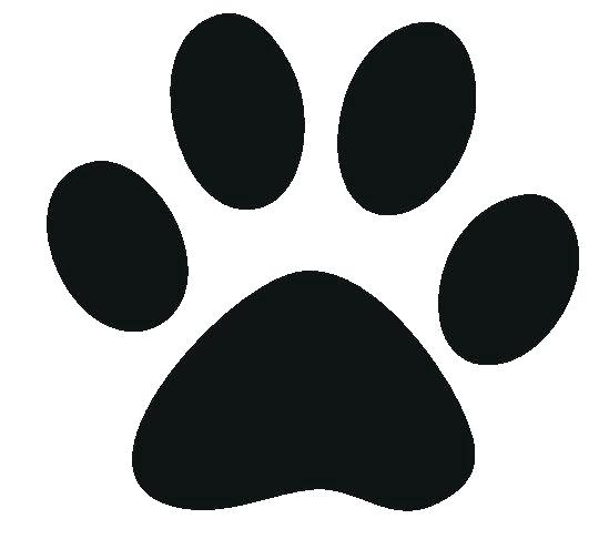 Paw clip art stencil. Print template wonderful stunning
