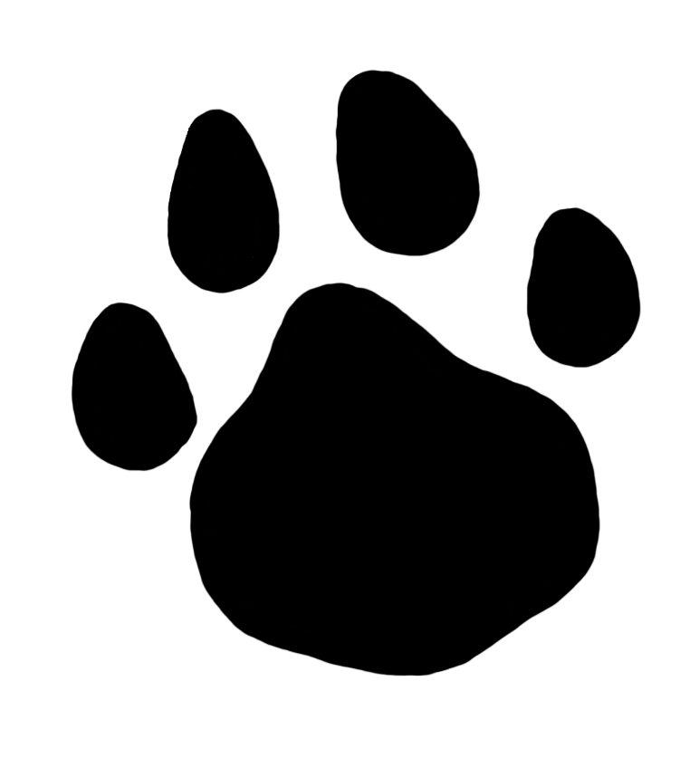 Paw clip art transparent background. Prints clipart bear front