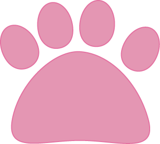 Paw clip art transparent background. Pink cat image