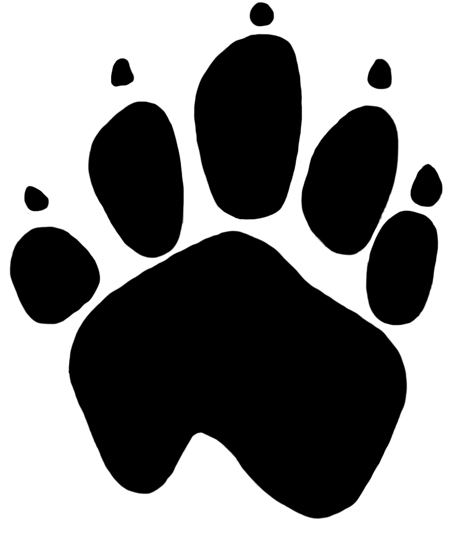White dog paw png
