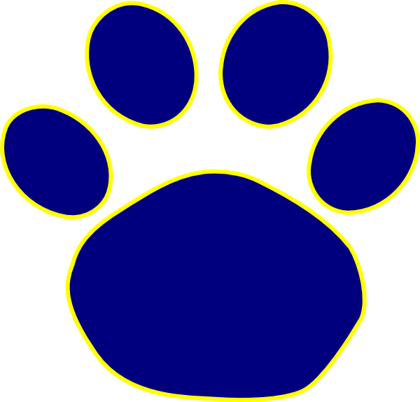 Transparent paw yellow. Bulldog print clipart clipartix