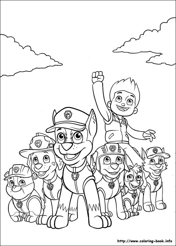 Paw clipart coloring page. Fresh dog the from