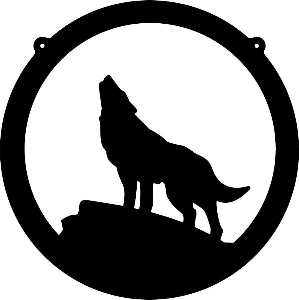 Paw clipart coyote. Silhouette clip art free