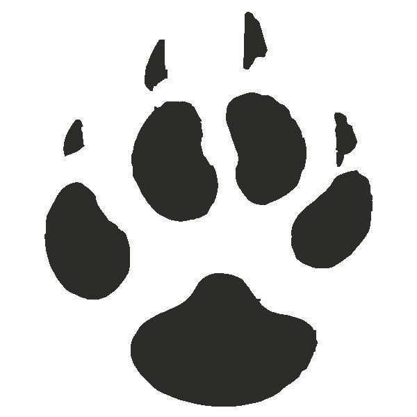 Paw clipart coyote. The best tattoo images
