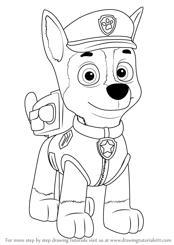 Paw clipart easy. Puppy drawing at getdrawings