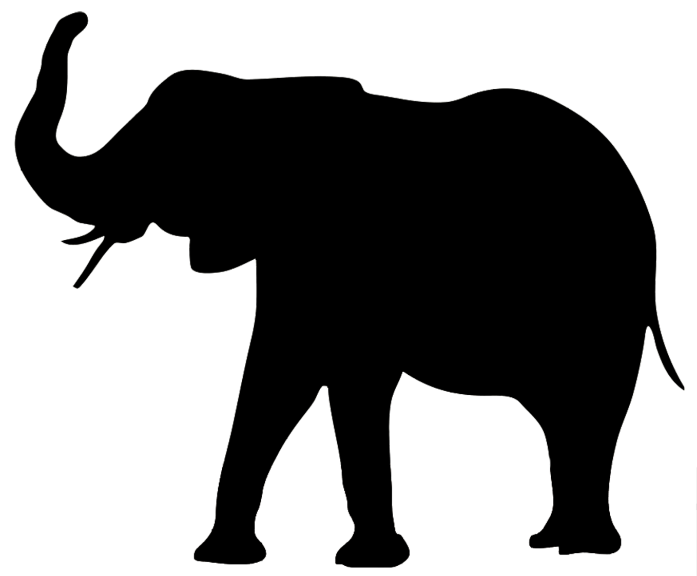 Animals clipart silhouette. Elephant the three kings