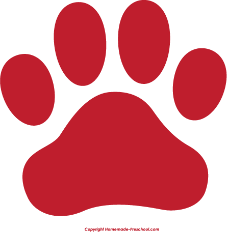 Red paw print png. Tiger silhouette at getdrawings