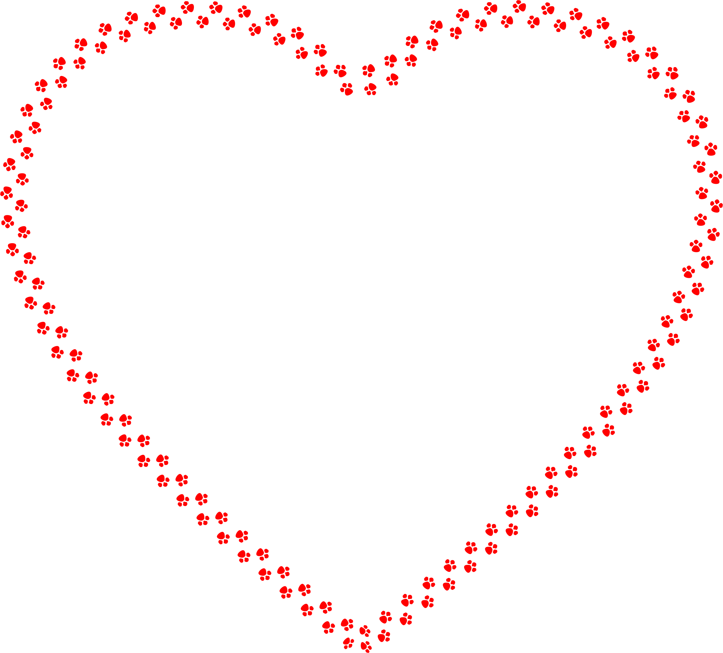 Paw heart png. Clipart prints big image