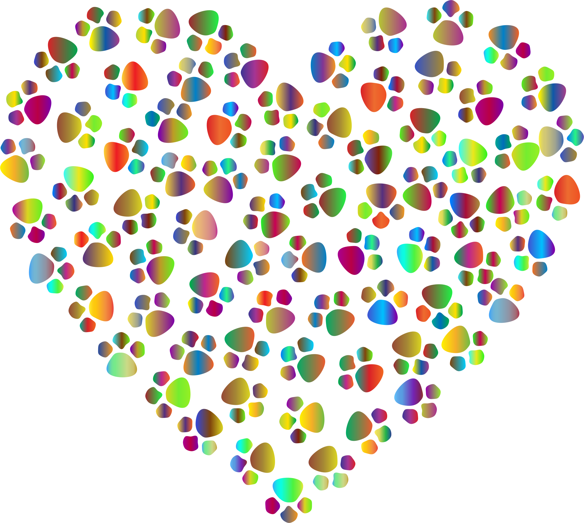 Paw heart png. Prismatic prints icons free