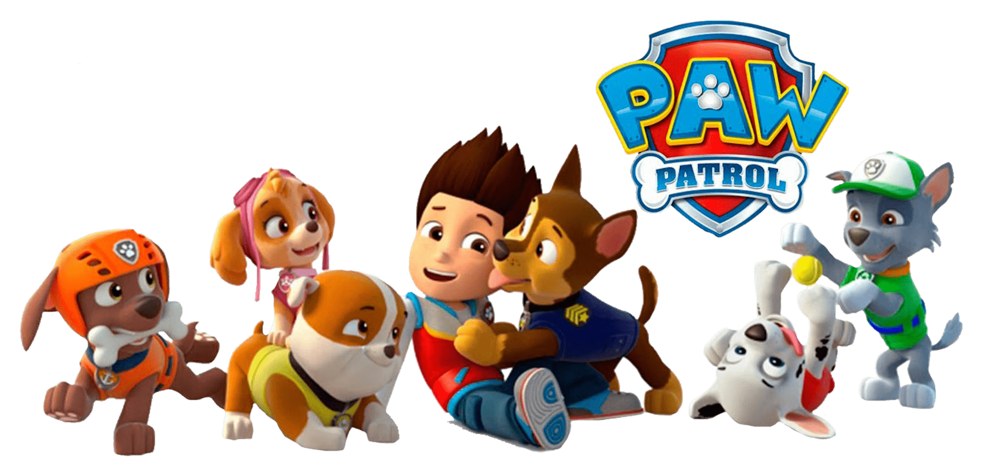 Paw patrol png transparent. Ryder with chase clipart