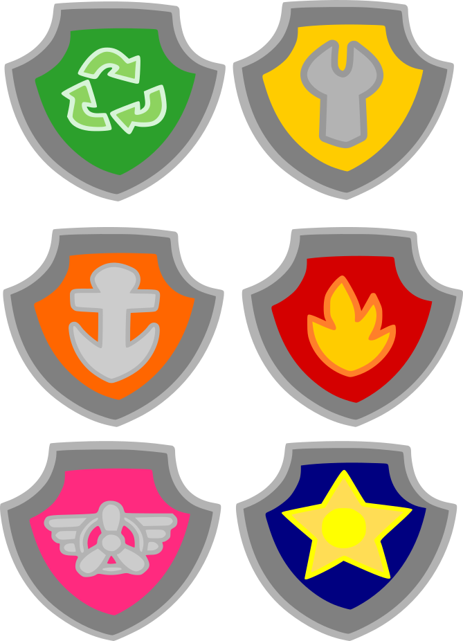 Paw patrol badges png. Crafting with meek cutting