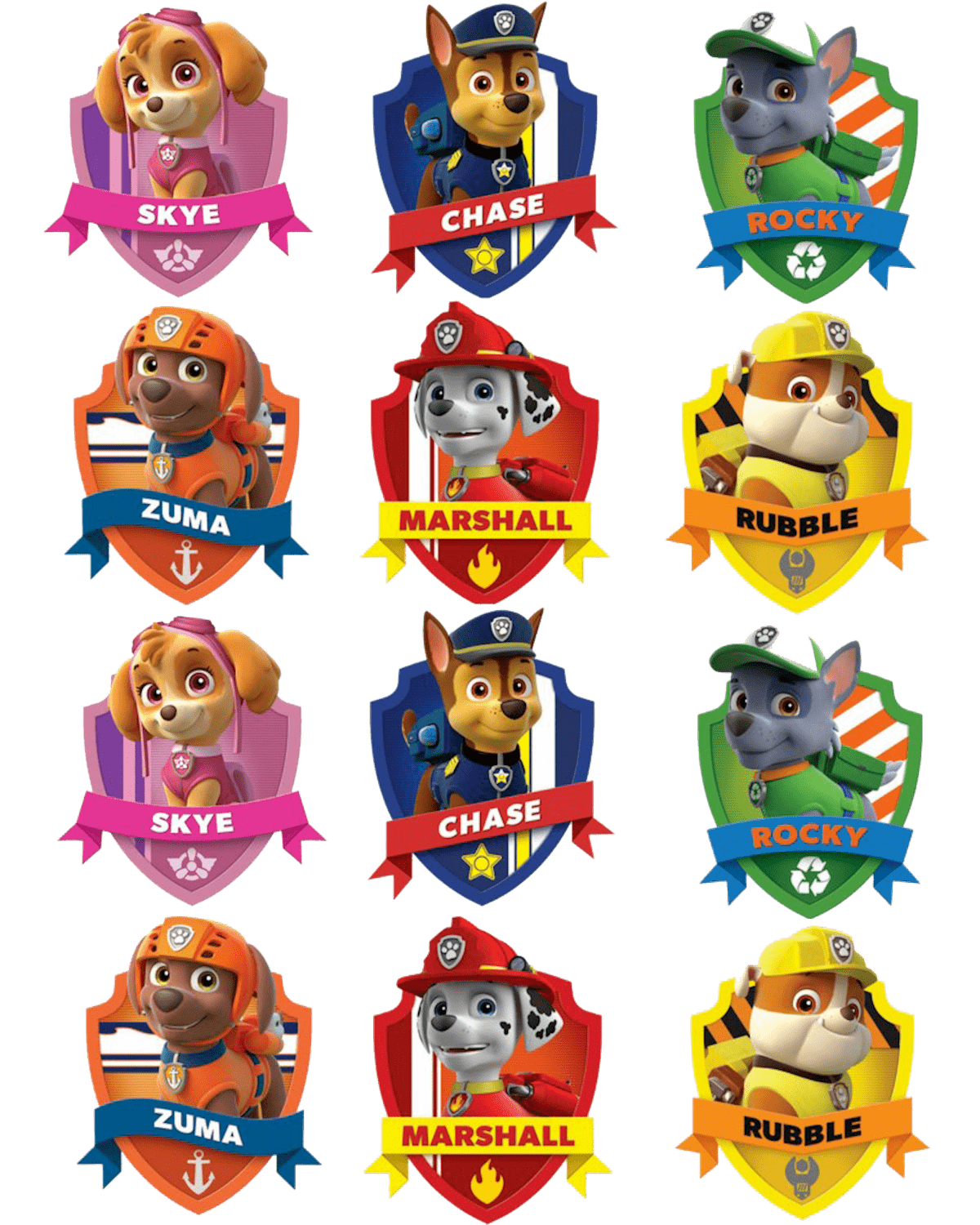 Paw patrol badges png. Clipart