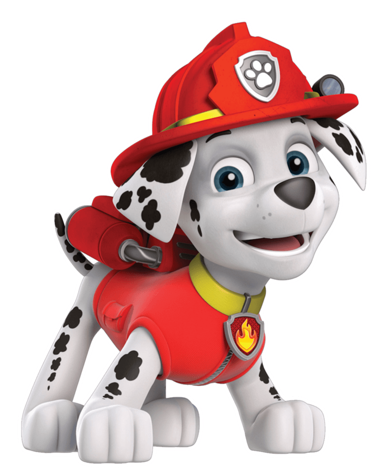 Paw patrol dogs png. Marshall smile clipart