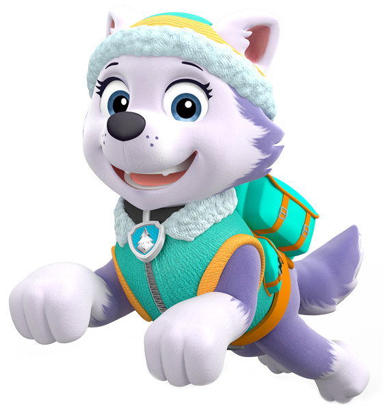 Paw patrol girl png. Image everest action pose