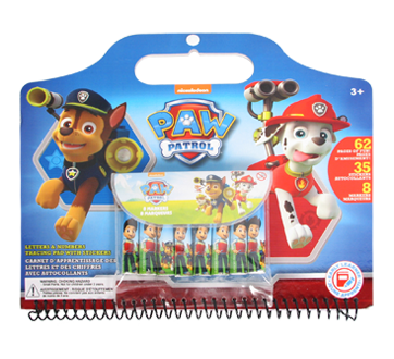 Paw patrol letters png. Numbers tracing pad with