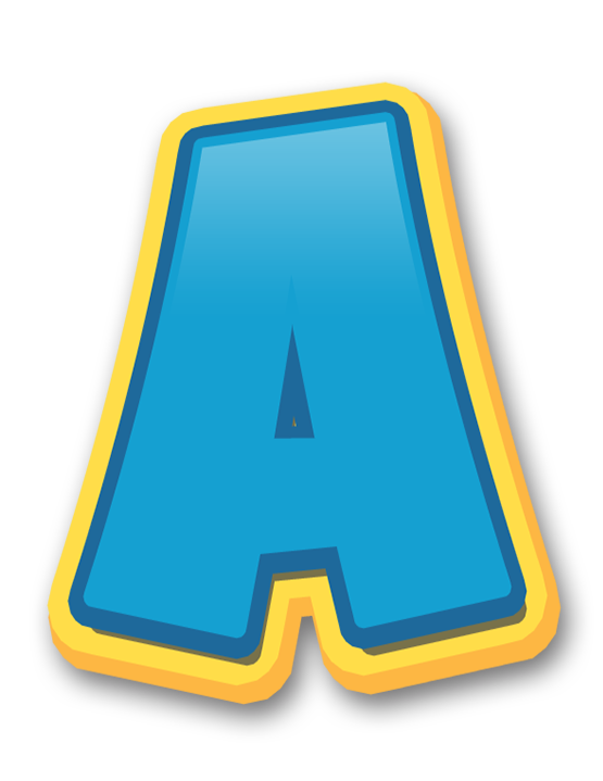 Paw patrol letters png. Letras patrulha canina a