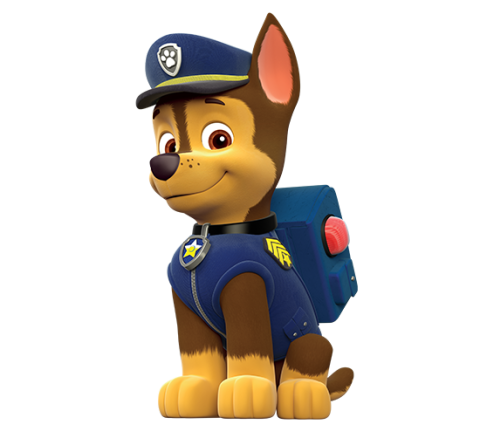 Paw patrol personagens png. Chase character main x