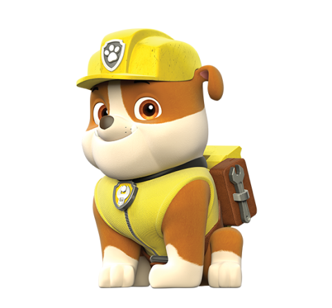 Patrulha canina rubble png. Paw patrol personagens image