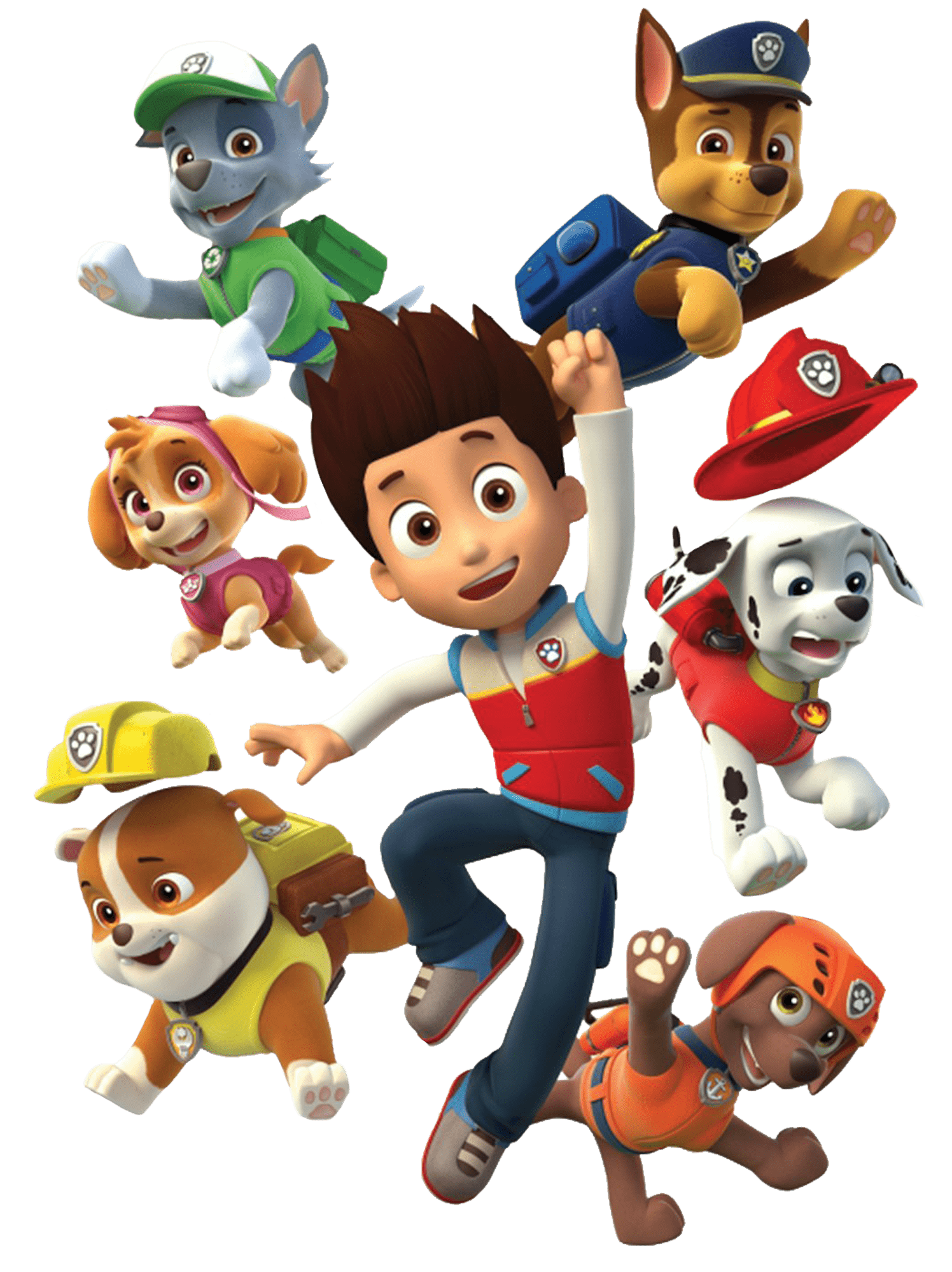 Paw patrol png clipart. Ryder and his dogs