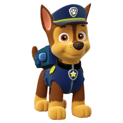 Paw patrol png images. Chase transparent stickpng