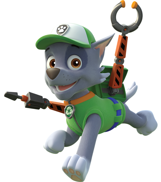 Paw patrol rubble black and white png. About rocky is a