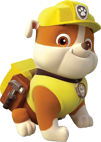 Paw patrol rubble png. Cartoon characters s pngs