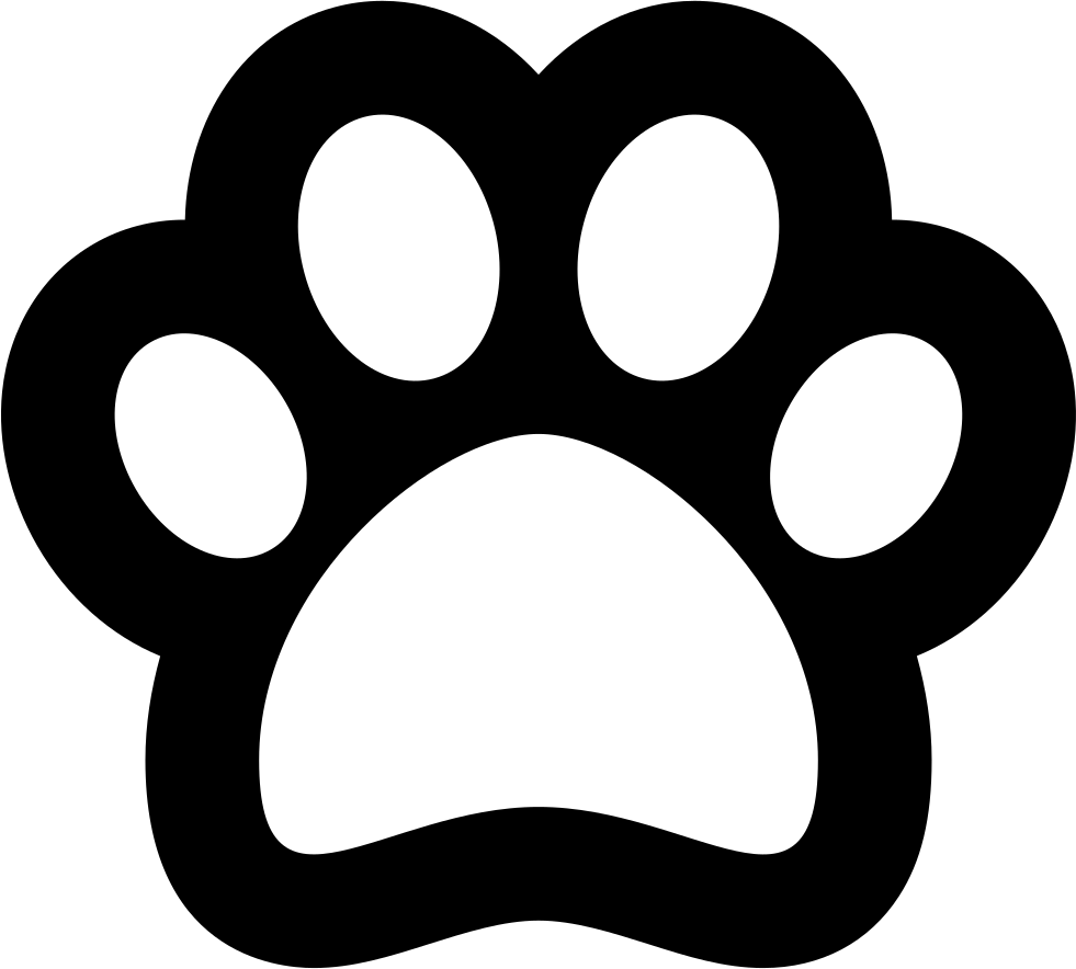 Pawprint svg outline. Png icon free download