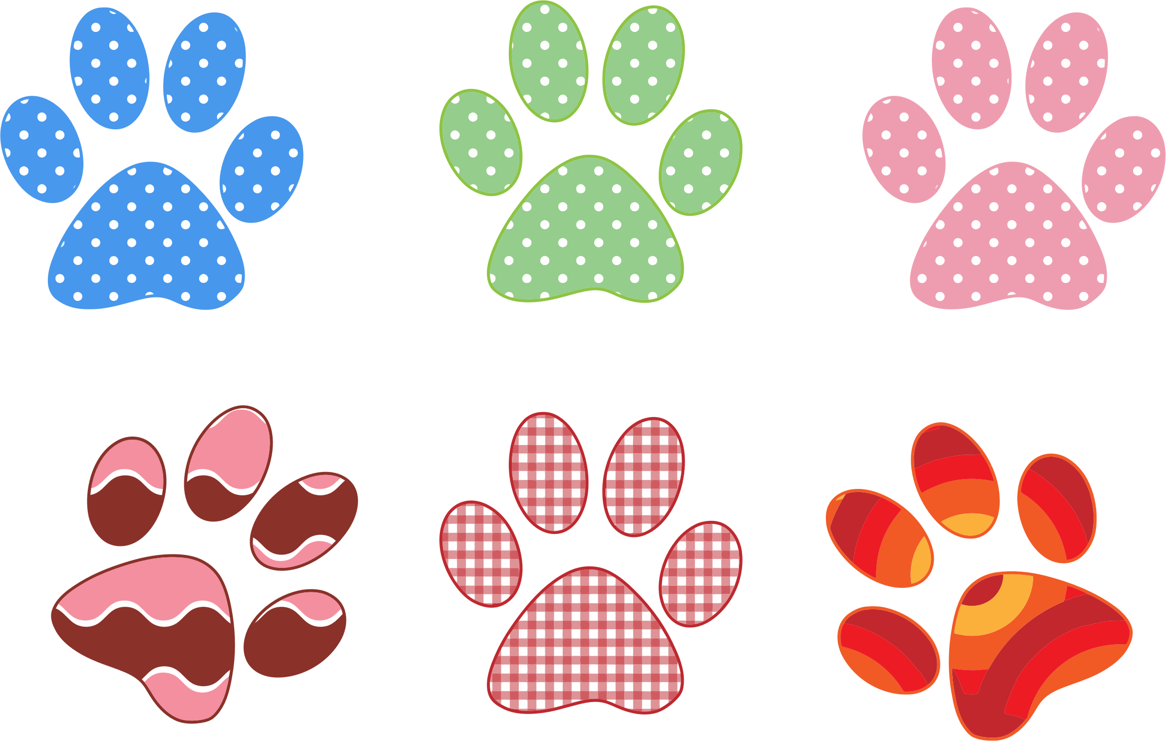 Prints icons png free. Paw clip art colorful jpg royalty free stock