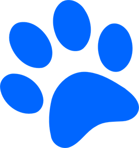Pawprint clipart svg. Blue paw print png