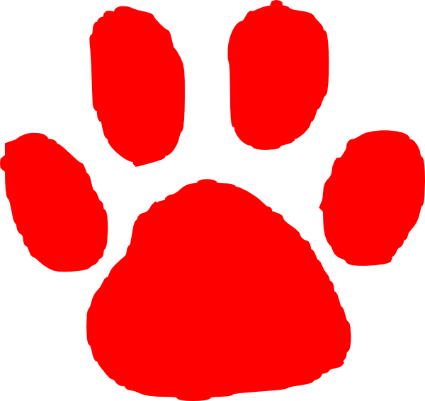Pawprint clipart svg. Red paw print clip